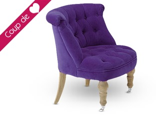 Fauteuil crapaud violet