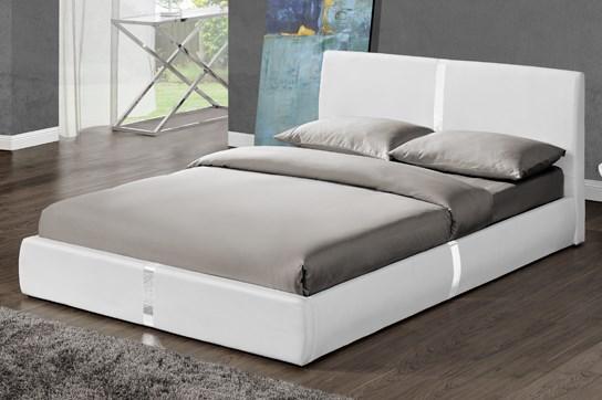 Lit Design Ulysse Blanc 140 cm