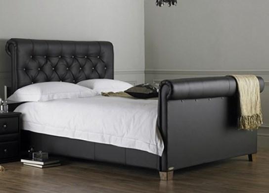 Lit design Estelle 140 cm noir