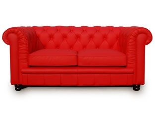 Chesterfield 2 places rouge