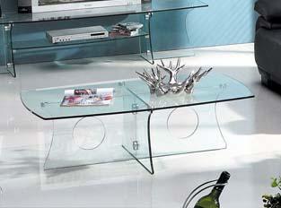 Table basse Royal en verre transparent