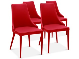 Chaises Design Marco Rouge VENDU PAR 4