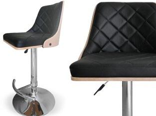 Tabouret design moka CHENE CLAIR
