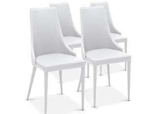 Chaises Design Marco Blanc VENDU PAR 4