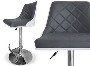 Tabouret design moka BLANC