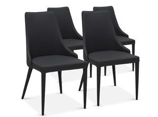 Chaises Design Marco Noir VENDU PAR 4