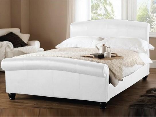Lit design Appoline 140 cm blanc