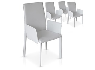 Chaises Design Maranelo Blanc VENDU PAR 4