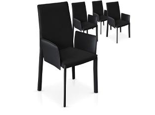 Chaises Design Maranelo Noir VENDU PAR 4