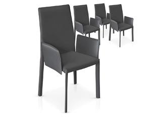 Chaises Design Maranelo Gris VENDU PAR 4