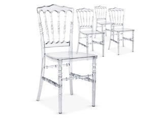 Chaises design César transparent blanc VENDU PAR 4