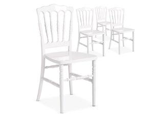Chaises Design César Blanc VENDU PAR 4