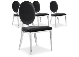 Chaises Design Sara Velours Noir VENDU PAR 4