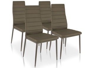 Lot de 4 chaises Softy taupe