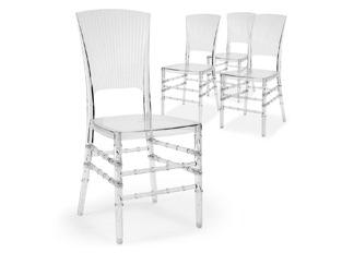 Chaises Design Enzo Transparent VENDU PAR 4