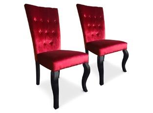 Chaises design Elisabeth VENDU PAR 2 rouge