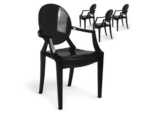Chaises Design empilables Victoria Noir VENDU PAR 4