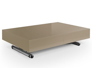 Table basse relevable Casper taupe