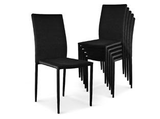 Chaises Design empilables Aloa Noir VENDU PAR 6