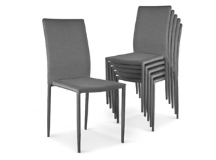 Chaises Design empilables Aloa Gris VENDU PAR 6