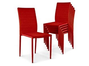 Chaises Design empilables Aloa Rouge VENDU PAR 6