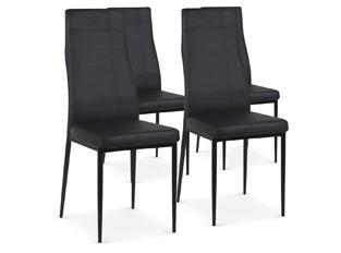 Chaises Design Carla Noir VENDU PAR 4