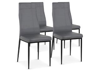 Chaises Design Carla Gris VENDU PAR 4