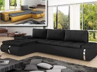 Canapé d'angle convertible design COSI Noir
