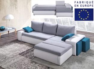 Canapé d'angle convertible design ROL
