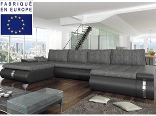 Canapé d'angle convertible design COSI XL GRIS