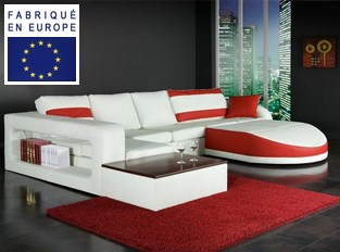 Canap� d'angle design Nirvana Rouge