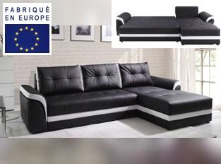 Canap� d'angle convertible design Luxus Noir