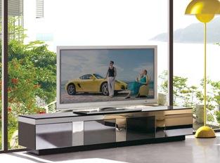 Meuble TV en verre design TINA