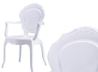 LOT DE  2 Fauteuil Polycarbonate Blanc