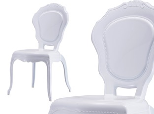LOT DE 2 Chaises Polycarbonate Blanc