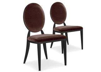 Chaises Design Sara Velours Marron VENDU PAR 2