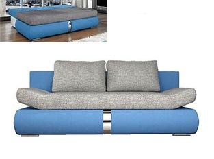 Banquette convertible design COSI bleu et gris