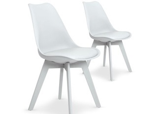 Lot de 2 chaises June blanc