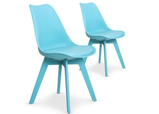Lot de 2 chaises June bleu