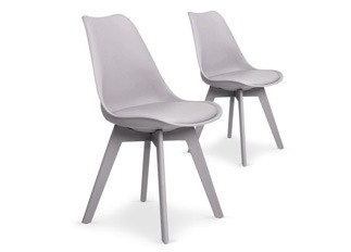 Lot de 2 chaises June gris