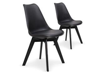 Lot de 2 chaises June noir