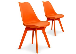 Lot de 2 chaises June orange
