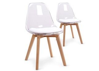 Lot de 2 chaises Flaubert plexi blanc
