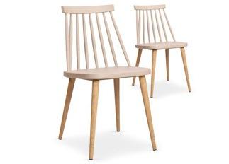 Lot de 2 chaises Deauville beige