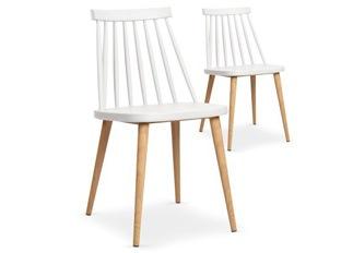 Lot de 2 chaises Deauville blanc