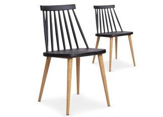 Lot de 2 chaises Deauville noir