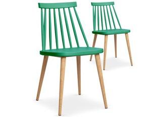Lot de 2 chaises Deauville vert