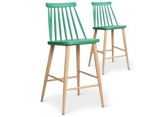 Tabouret design Deauville vert
