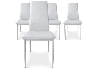 Lot de 4 Chaises Loto blanc