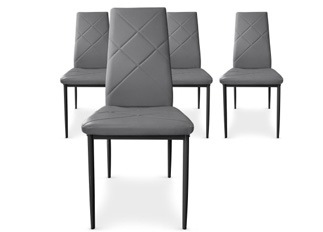 Lot de 4 Chaises Loto gris